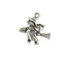 Kitchen Witch Pewter Candle Charm