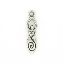 Goddess Pewter Candle Charm
