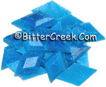 Sky Blue Fluorescent Diamond Pigment Chips