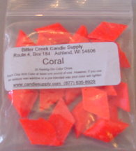 Coral Fluorescent Diamond Pigment Chips
