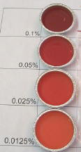 Shades of Orange/Red Liquid Candle Dye *Surplus ~~