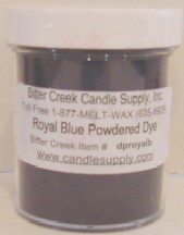 Royal Blue Powdered Candle Dye