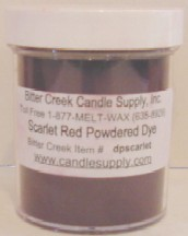 Scarlet Red Powdered Candle Dye