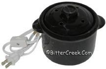 Black Marble Electric Potpourri Pot