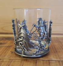Tumbler with Christmas Tree, Santa Claus & Holly *Surplus