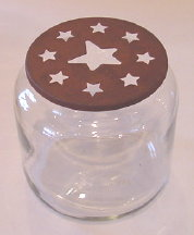Rusty Star Candle Capper *Jar Sold Separately*