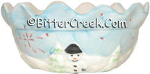 Snowman Pie Crust Rim Bowl (Case of 12) *Clearance