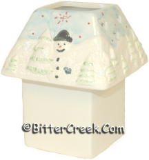 Snowman Square Votive Lamp (Case of 12) *Clearance