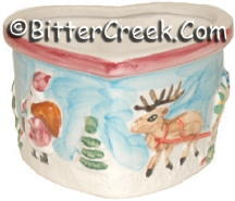 Reindeer & Santa Small Heart Bowl (Case of 12) *Clearance