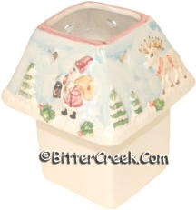 Reindeer & Santa Square Votive Lamp (Case of 12) *Clearance