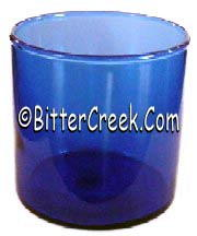 Round Blue Glass Tumbler (Case of 24)