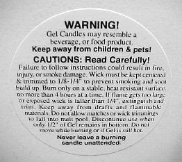 "1 1/4"" Gel Warning/Caution Labels"
