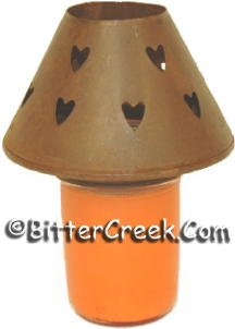 Heart Rust Candle Shade (6pc)
