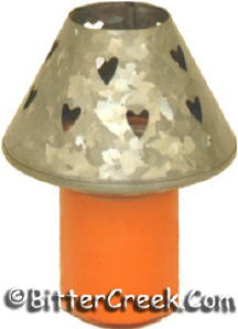 Heart Zinc Candle Shade (6pc)