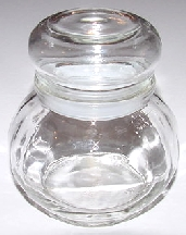 6oz Facetted Apoth Jar 12/case