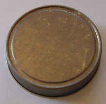 Antique Gold Plain Jelly Lid