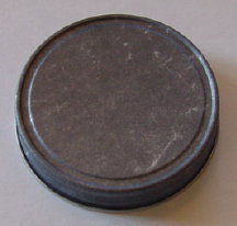 Antique Pewter Plain Jelly Lid