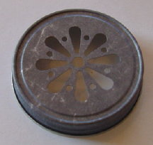 Antique Pewter Smelly Jelly Lid