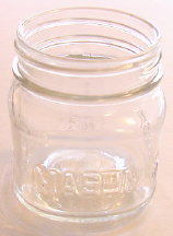 8 oz. Square Mason Jar (12) Per Case *No Lid*