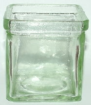 Square Green Votive Container (Case of 24)