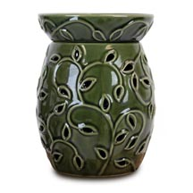 Wax Melt (tart) Warmer Tall Green Ivy