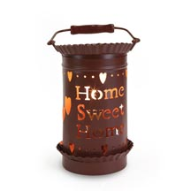Punched Tin Melt (tart) Warmer Home Sweet Home