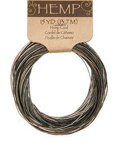 Camo Hemp Cord (15yds) *NEW
