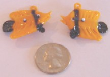 Gold & Black Fish 12 pieces