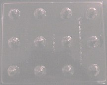 3-D Bell Embed/Tart Tray Mold (12 Cavity)