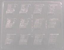 Flag Embed/Tart Mold (12 Cavity)