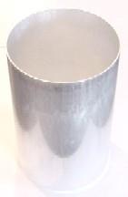 """4"""" x 6.5"""" Round Seamless Aluminum Pillar Mold"""