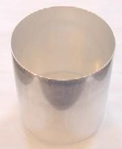 "5"" x 5.5"" Round Seamless Aluminum Pillar Mold (3 Wick)"