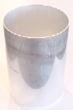 "3.75"" x 6.5"" Oval Seamless Aluminum Pillar Mold"