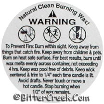 "1 1/4"" Soy Warning/Caution Labels"
