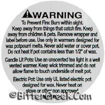 "1 1/4"" Tart Warning/Caution Labels"