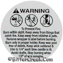 "1 1/4"" Votive Warning/Caution Labels"