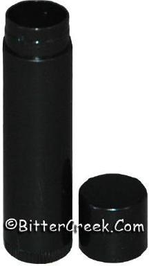 Black lip balm tube/cap (12)