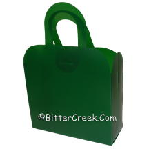 Forest Green Frosted Gift Tote *Surplus