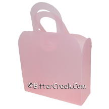 Light Pink Frosted Gift Tote *Surplus