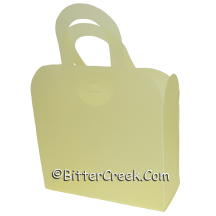 Light Yellow Frosted Gift Tote *Surplus