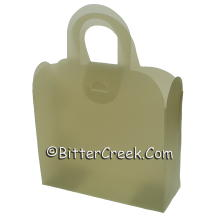 Moss Green Frosted Gift Tote *Surplus
