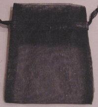 "3"" x 4"" Black Organza Bags"