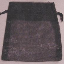 "4"" x 5.5"" Black Organza Bags"