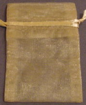 "3"" x 4"" Gold Organza Bags"