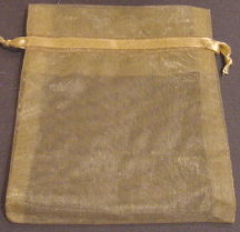 "4"" x 5.5"" Gold Organza Bags"