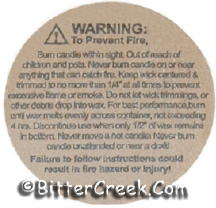 "1 1/4"" Kraft Brown Container Warning/Caution Labels"