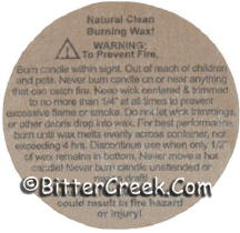 "1 1/4"" Kraft Brown Soy Warning/Caution Labels"