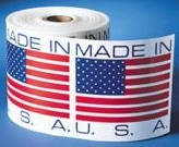 "1"" Made in USA Labels"