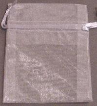 "3"" x 4"" Silver Organza Bags"