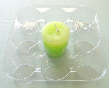 9pc Plastic Votive Tray